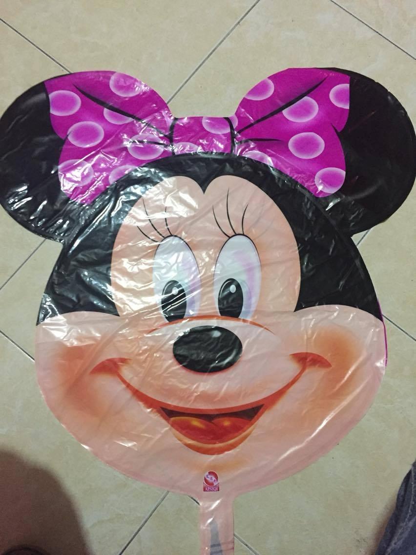6 Globos Cabeza De Mickey Y Minnie Mouse De 70x65cmcumple