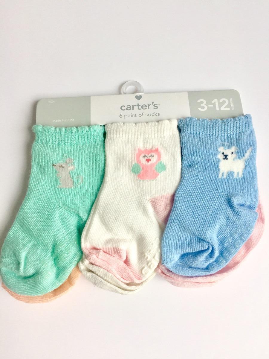 6 Pares De Calcetines Para Beb Nia De 3 A 12 Meses   27000 en Mercado Libre