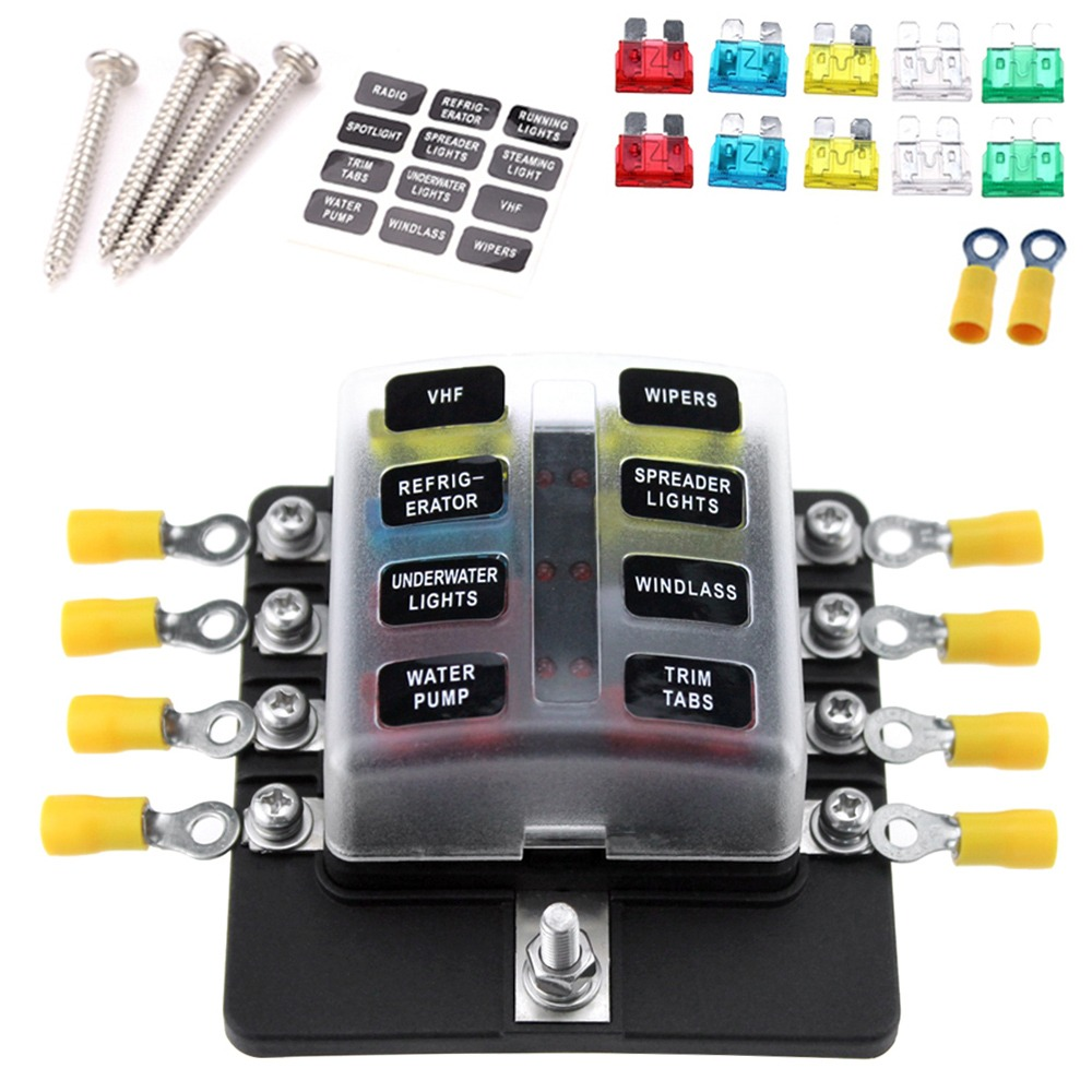hight resolution of  box holder fuse blocks con indicador led cargando zoom