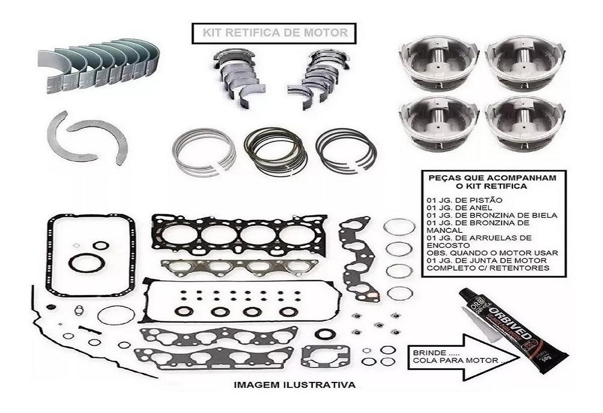 Kit Retifica Do Motor Fiat Uno Mille 1.0 8v. 94/97 Ie