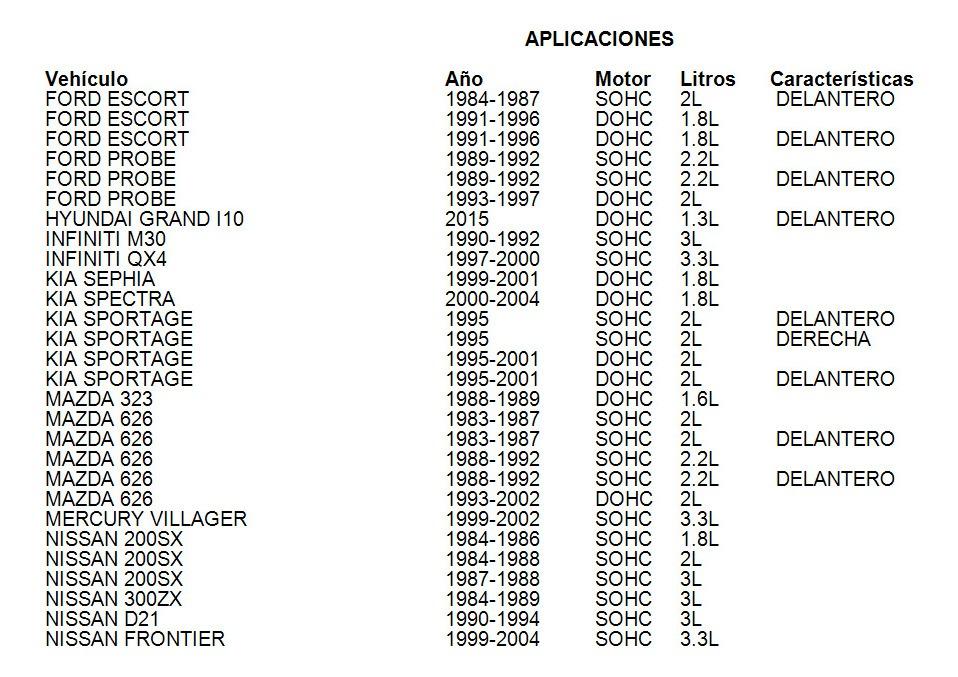Reten Cigueñal Mercury Villager 1999-2002 3.3l Ajusa