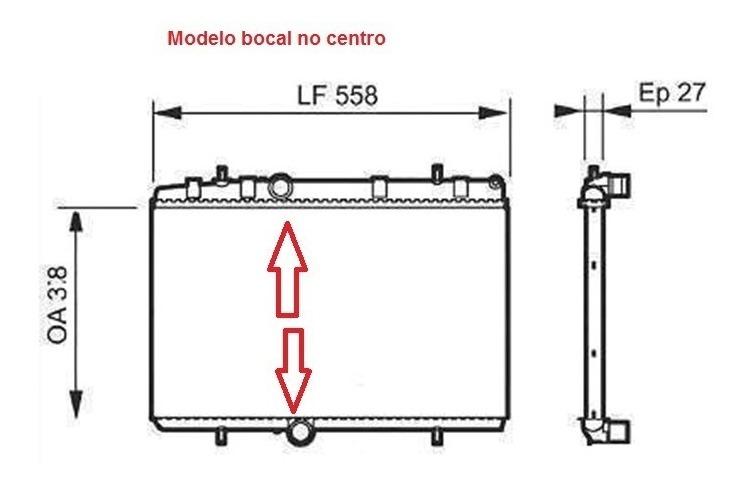Radiador Peugeot 408 16v 2.0 2011 A 2016 Automatico E