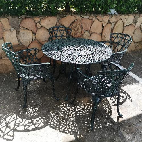 juego de comedor sala y jardin en aluminio sillas y mesa