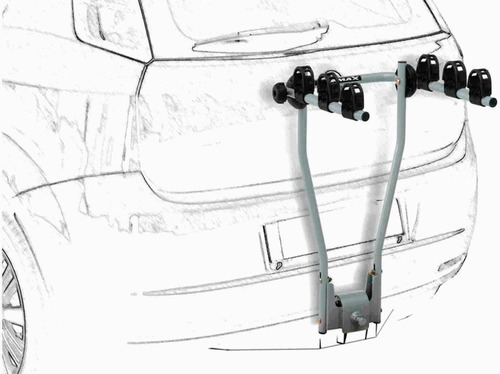 Rack Transbike Traseiro De Engate B3x Eqmax Suporte 3