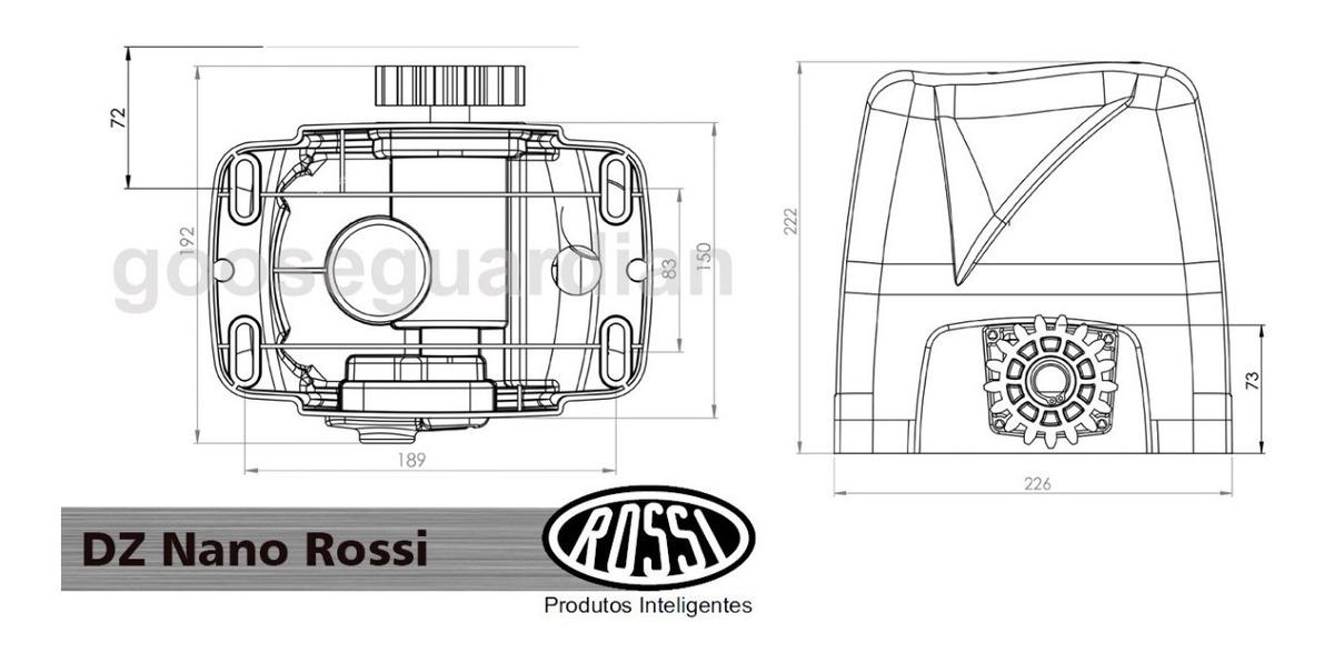 Kit 1 Motor Rossi Dz Nano Turbo 3m Crem 2 Control 1 Txcar