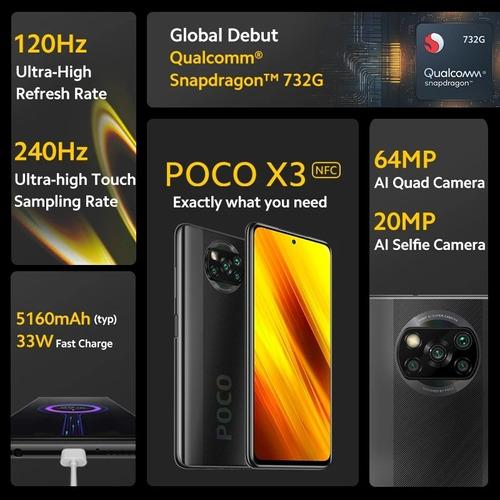 Xiaomi Poco X3 Nfc 64gb 6gb Ram 120hz teléfonos de Xiaomi que puedes comprar en Venezuela