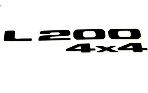 Emblema Adesivo Mitsubishi L200 4x4 Preto L200 Gl Gls Hpe