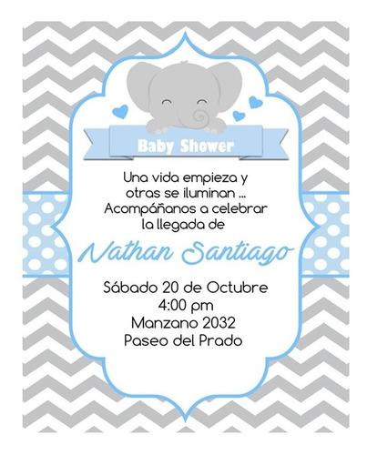 Invitaciones De Elefantes : invitaciones, elefantes, Invitaciones, Digitales, Shower, Elefante, Elefantitos, Niño, Mercado, Libre