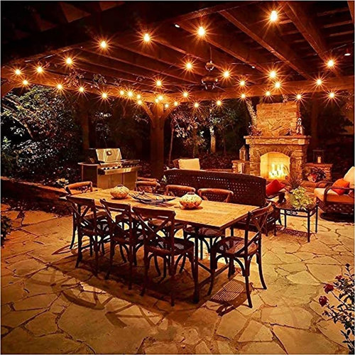 cadena de luces para patio al aire libre de 4 9 ft
