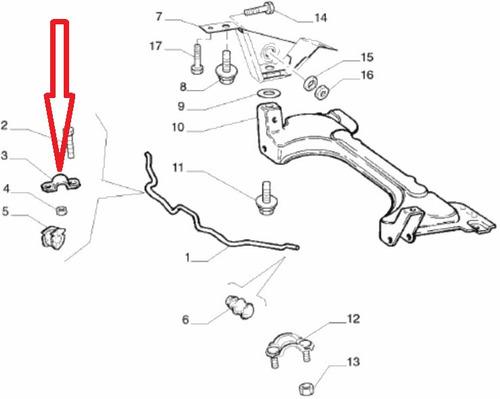 51820285 Braçadeira/chapa Bucha Barra Estabilizadora Fiat