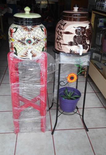 Dispensador Portagarrafon De Ceramica Con Llave Para Agua