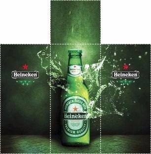 Adesivo Geladeira Cerveja Heineken  Imagens Full Hd 3d