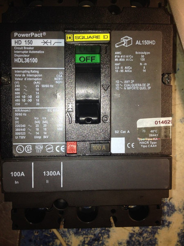 Interruptor Termomagnetico Square D Catlogo Hdl36100