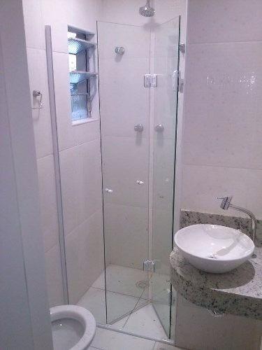 Box Banheiro Porta Vidro 8mm Camaro Articulada Imperdivel
