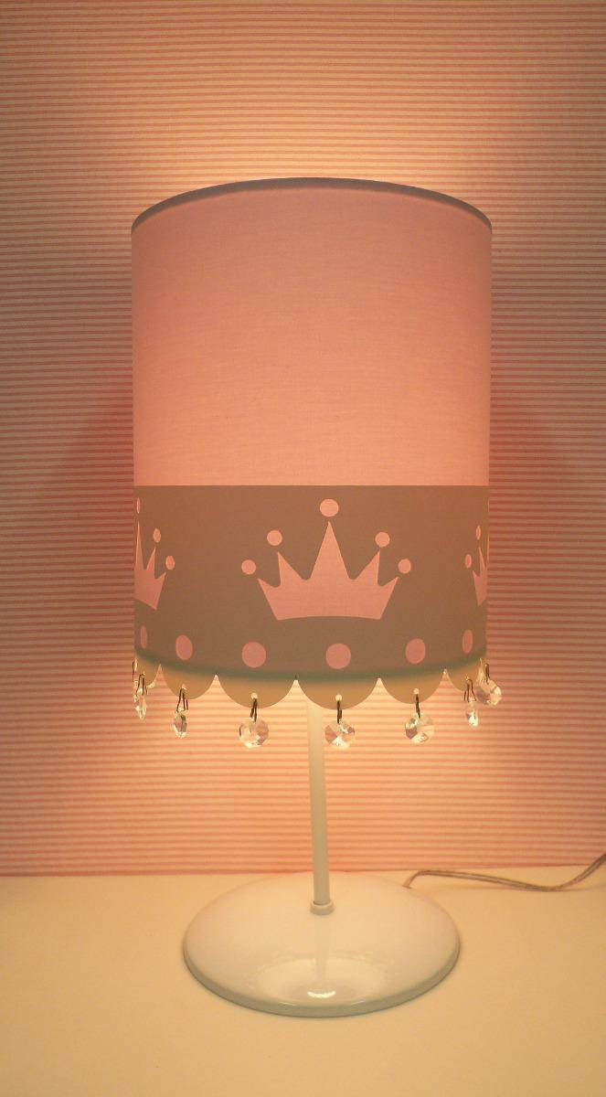 Abajur Coroa Quartobeb Meninainfantilcristal
