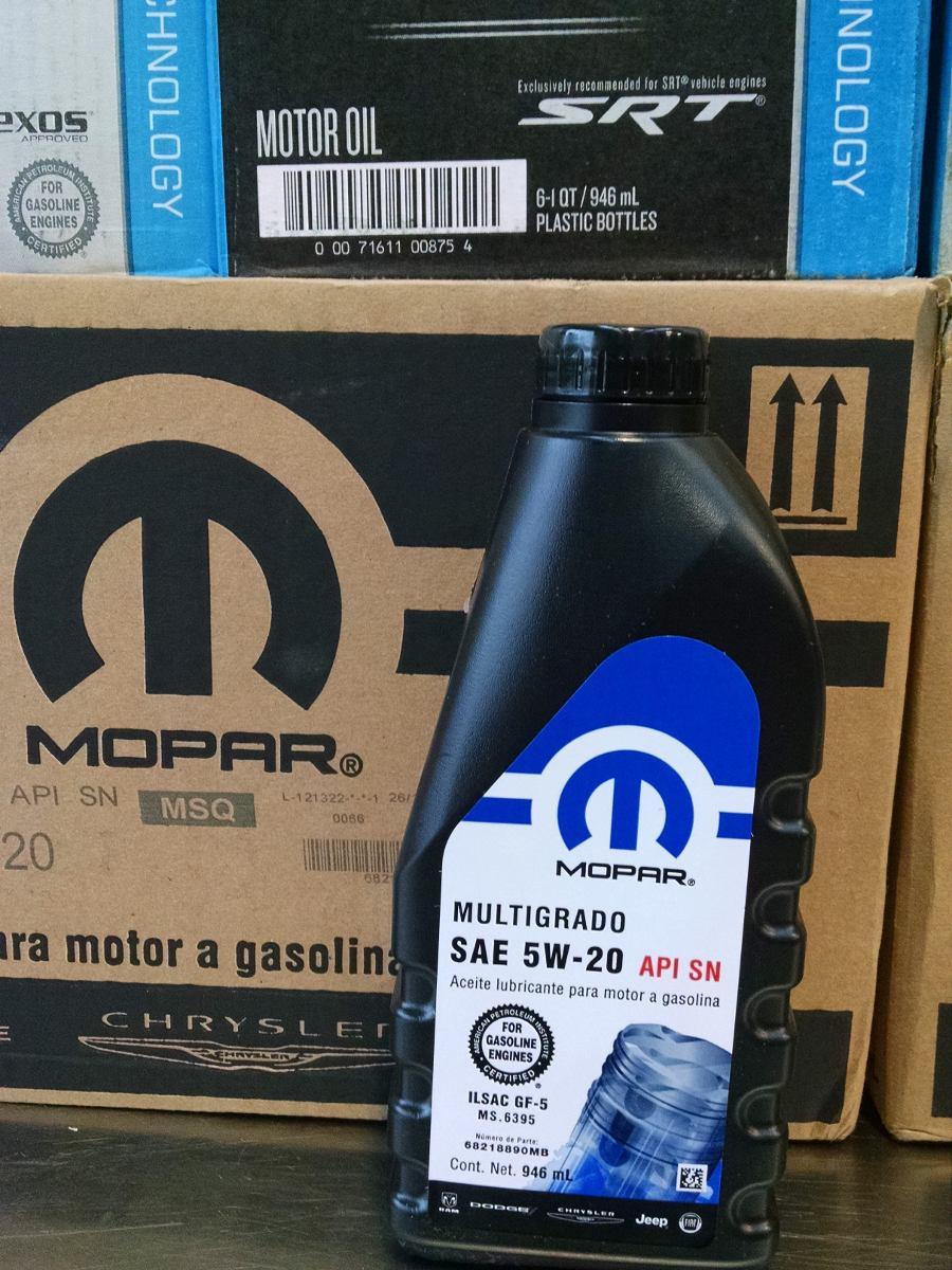 Aceite Mopar Motor 5w20 Chrysler Original 1 Litro   154