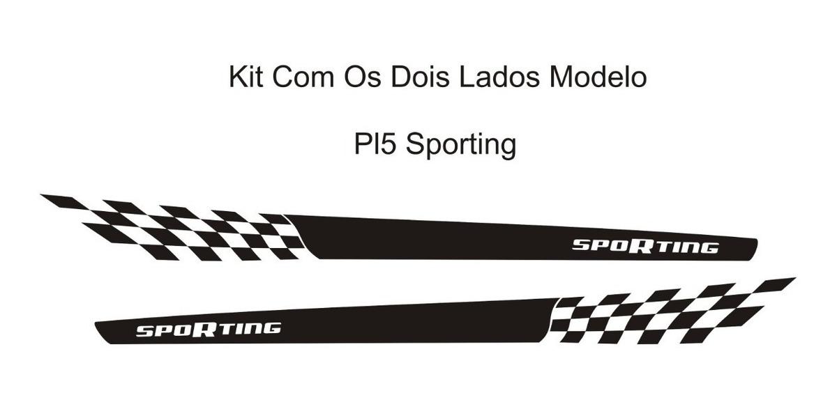 Acessórios Fiat Novo Palio Pl5 Sporting Adesivo Lateral