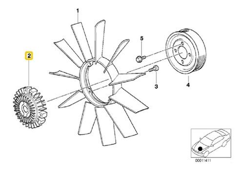 Acoplamento Viscosa Hélice Radiador 3 Furos Bmw E36 E39