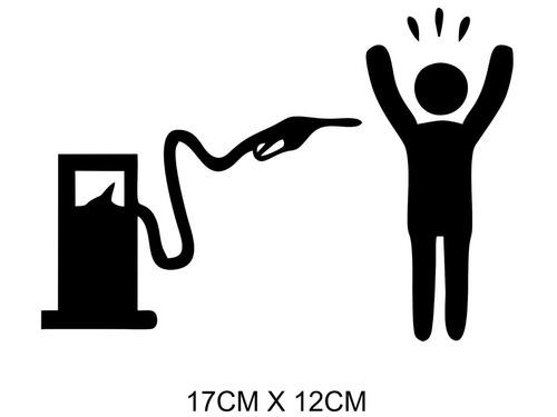 Adesivo Carro Moto Bomba De Combustível Gasolina
