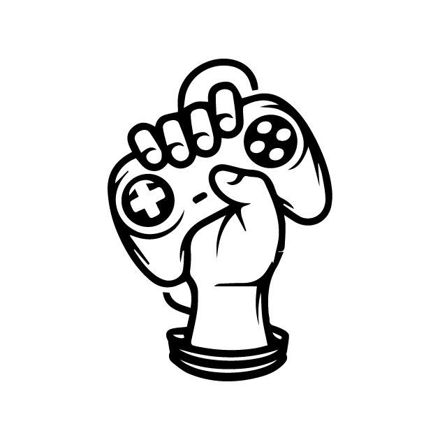 Adesivo Decorativo Controle Mão Gamer Geek Video Game