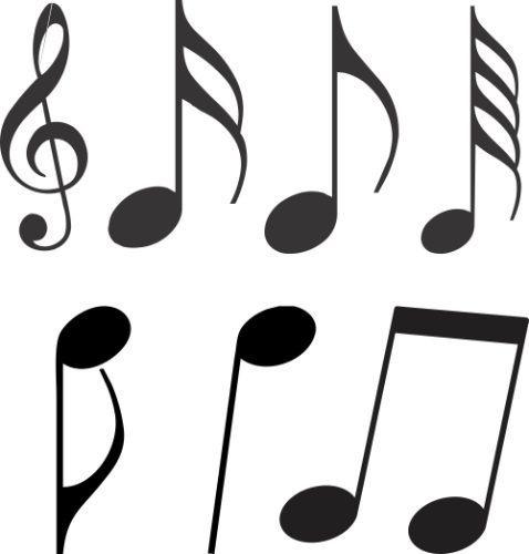 Adesivo Decorativos 42 Notas Musicais Para Quarto