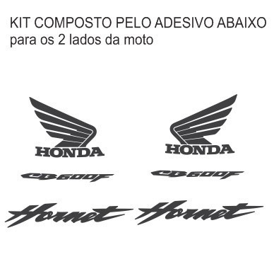 Adesivo Faixa Tuning Moto Honda Hornet Cb 600 F De 05 Até
