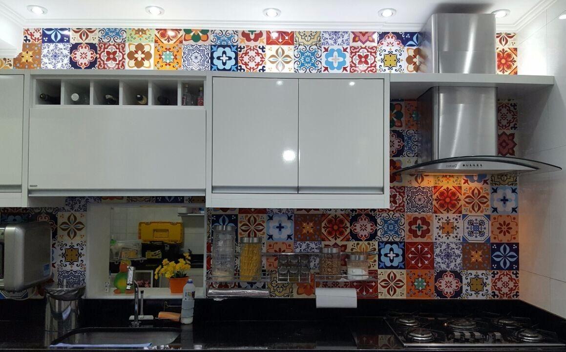 Adesivo Ladrilho Hidrulico Azulejo Portugues Para Cozinha