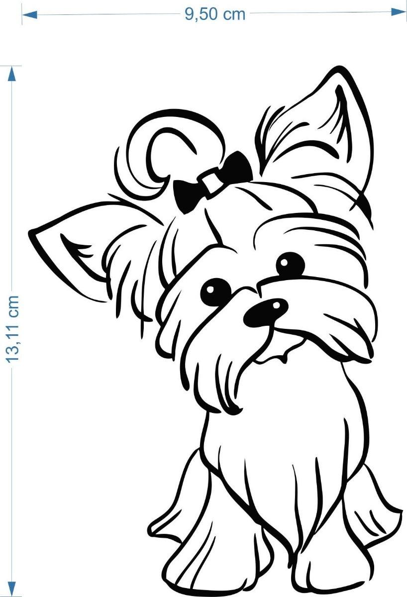Adesivo Yorkshire 10cmx15cm Cão Cachorro Pet Dog Bicho