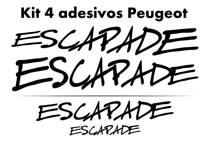 Adesivos Tuning Peugeot Escapade 206 207 Sw Frete Grátis