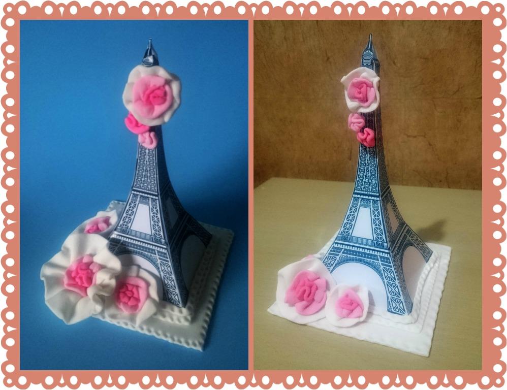 Adorno P Tortas Centros De Mesa Paris Torre Eiffel 15