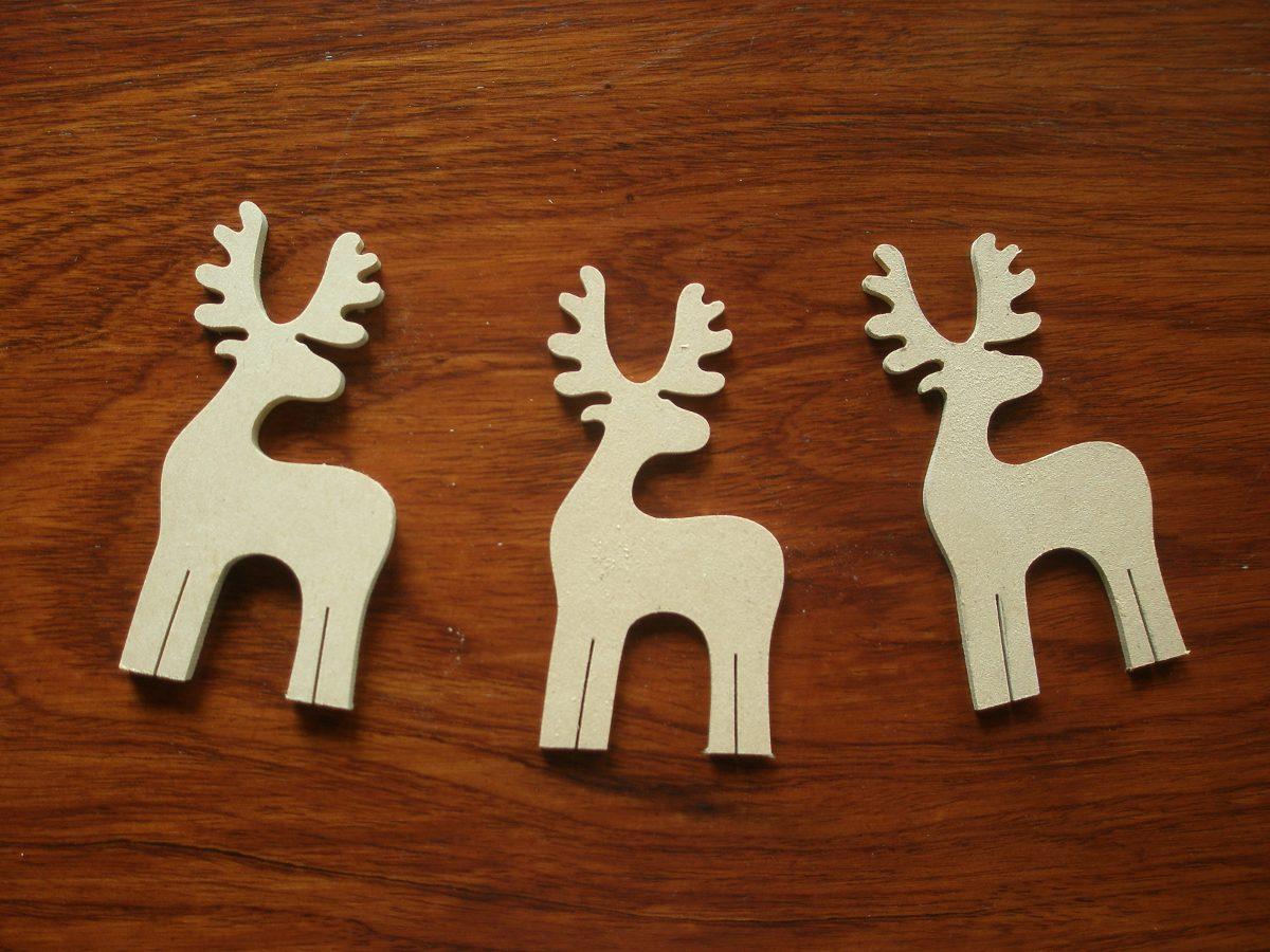Adornos De Navidad En Madera Fibrofacil Para Pintar En 3mm