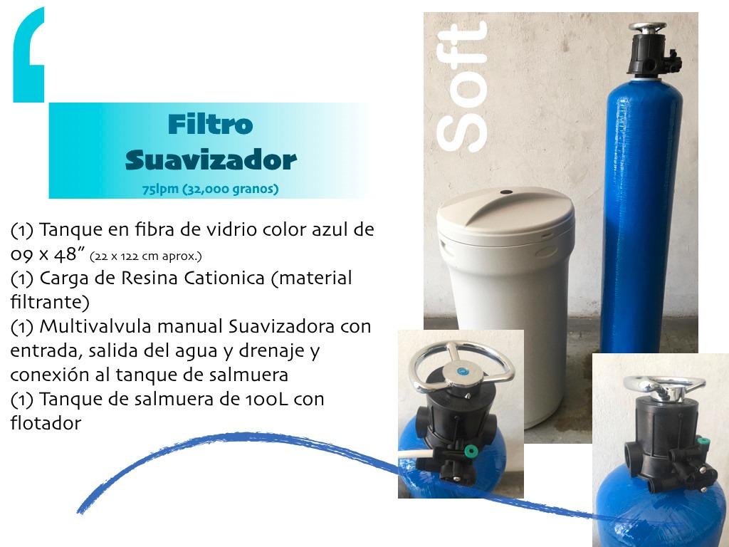Filtro Suavizador De Agua 9x48 Elimina Sarrodureza Del