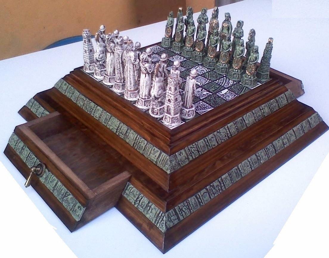 Ajedrez De Piramide Aztecas Contra Espaoles   159900