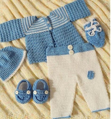 Ajuar Tejido A Mano Para Recien Nacido Crochet