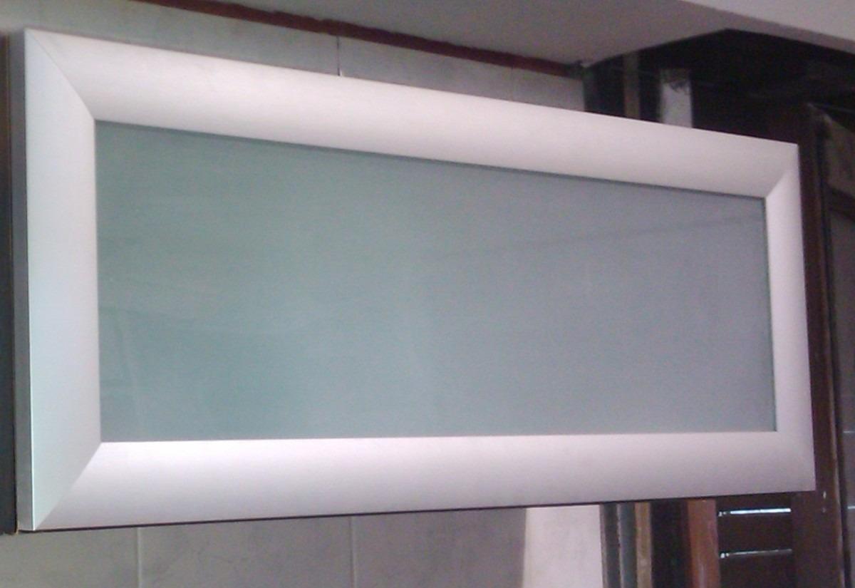 Alacena Rebatible Vidriada Marco Aluminio 100x30x30   3