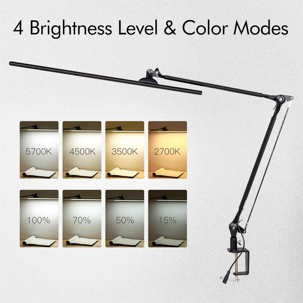 Amico 11w Led Architect Desk Lamp Clamp Lamp Metal Swing Arm 380 900 En Mercado Libre
