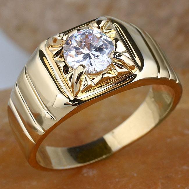 Anillo Para Caballero Con Diamante De 100 Ct En Oro De