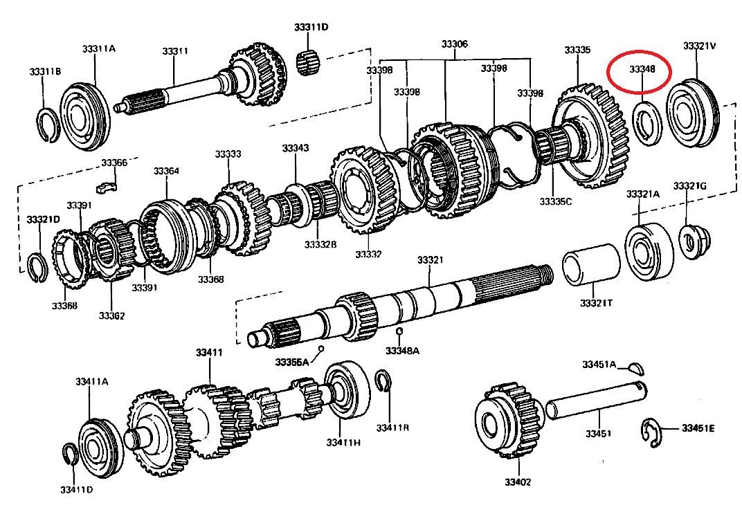 Arandela Caja Toyota Landcruiser 4-5 Velocidades Original