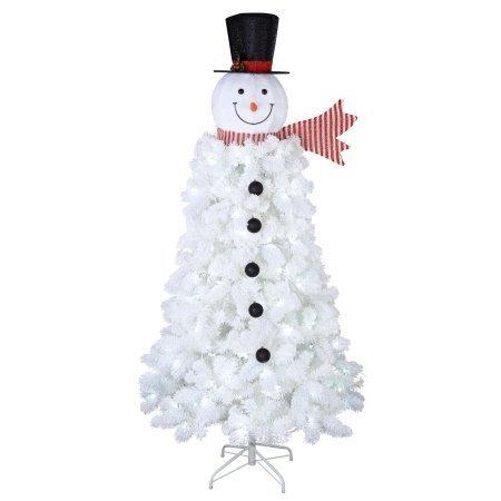 Arbol De Navidad Mono De Nieve Artificial De 198 M Pino