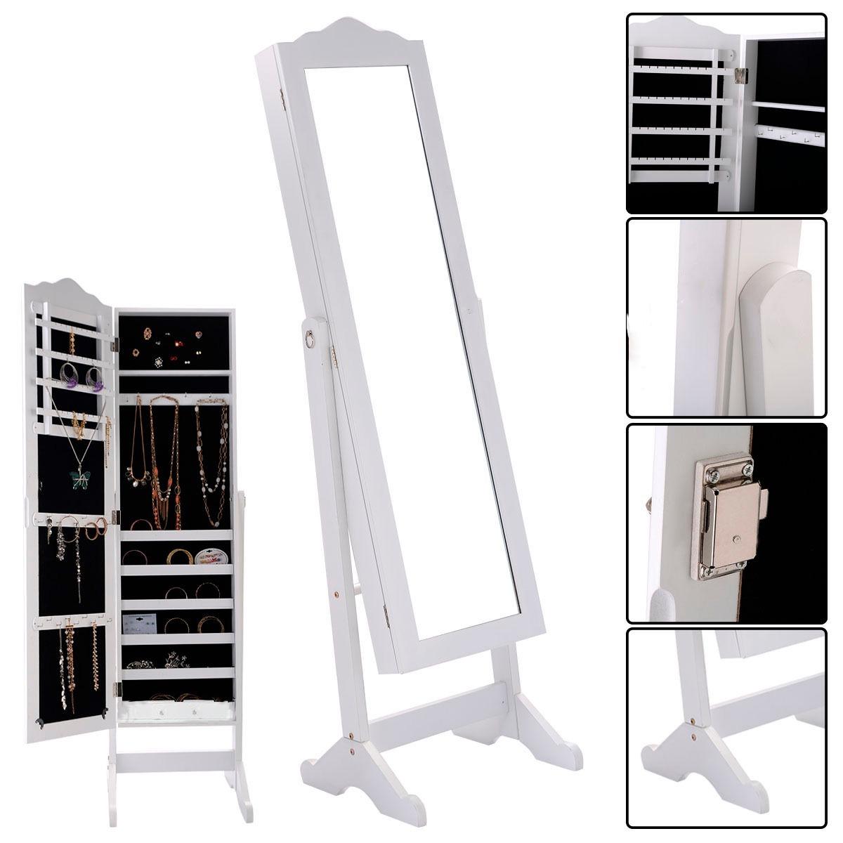 Armario Joyero Con Espejo Organizador Blanco Envo Mismo