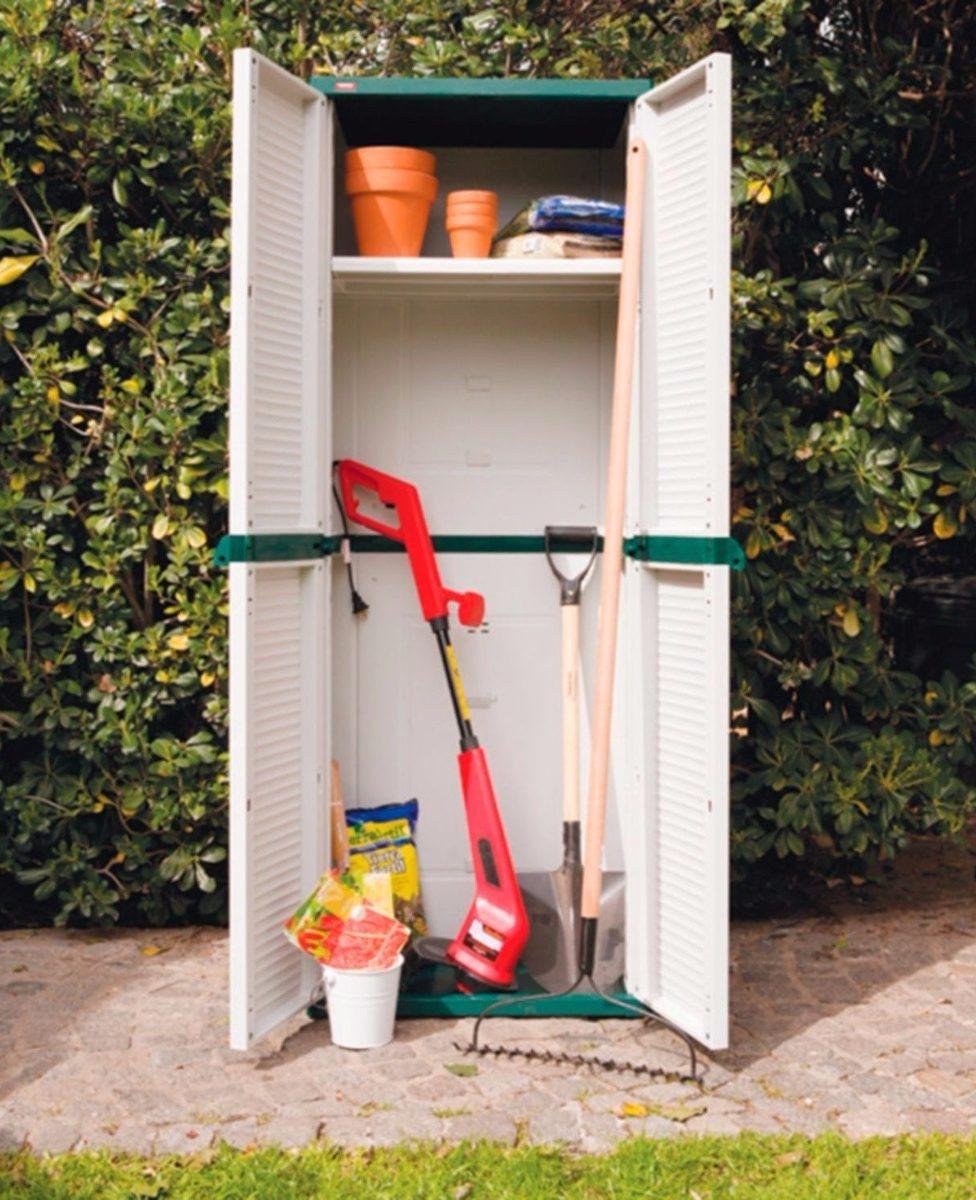 Armario Plastico Keter Garage 2 Puertas Escobero Jardin