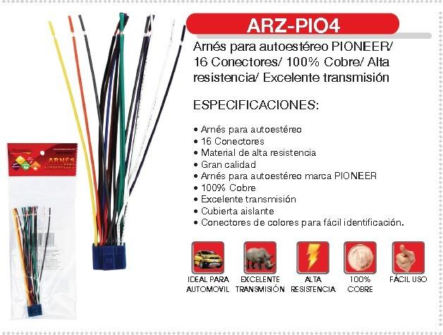wiring diagram app electronic relay arnés fussion autoestéreo pioneer arz-pio4 16 conectores - $ 79.00 en mercado libre