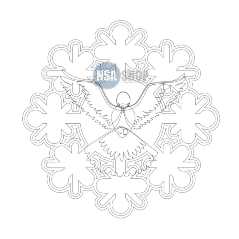 Arquivo Digital Para Corte Silhouette Divino Espirito