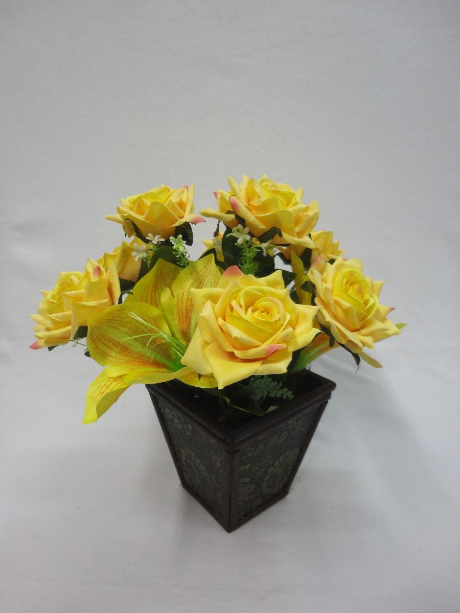Arranjo Mesa Rosa Amarela Amarilis Arranjo Flores