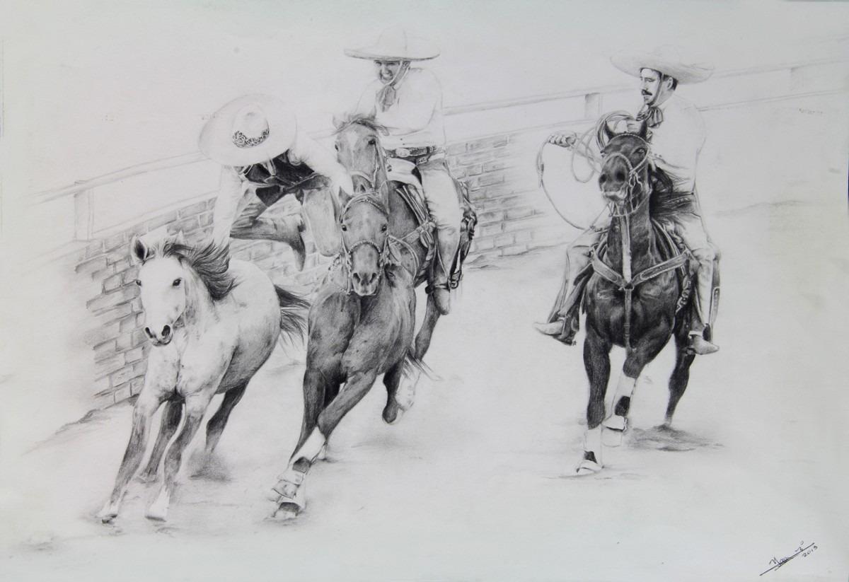 Arte Dibujo A Lpiz Charreria   500000 en Mercado Libre