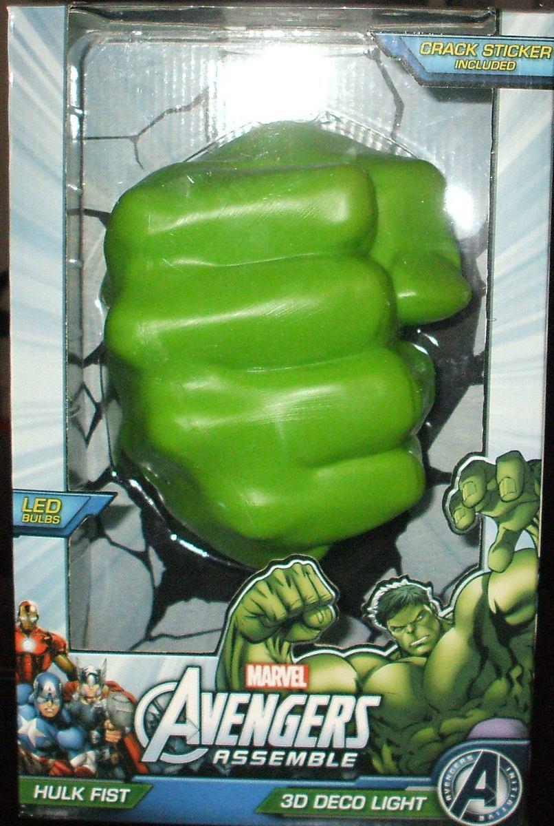 Avengers Hulk Lampara Led Pared 3d Nio Vengadores Marvel
