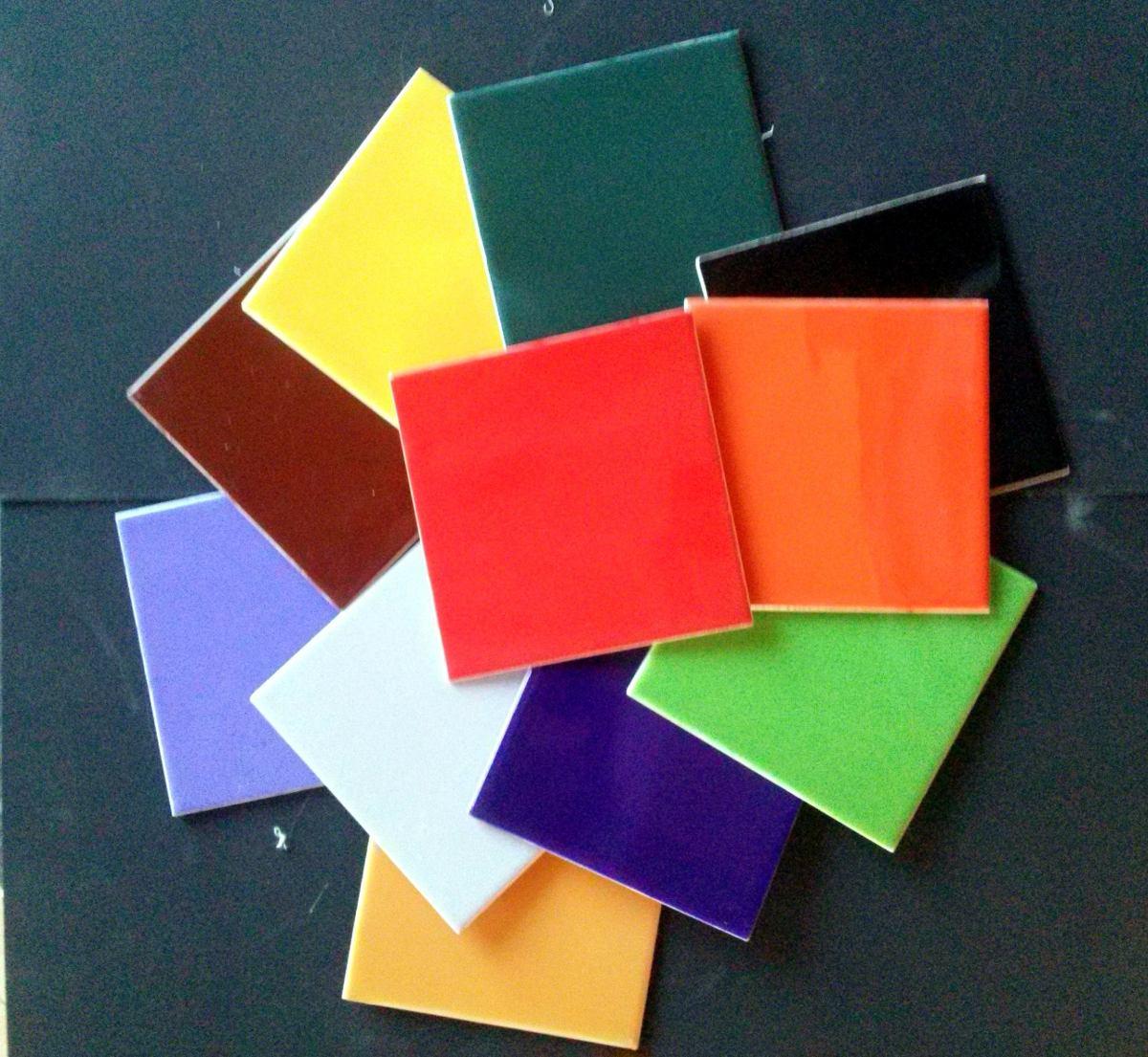 Azulejos De Ceramica De Colores Baldosas 15x15 Para