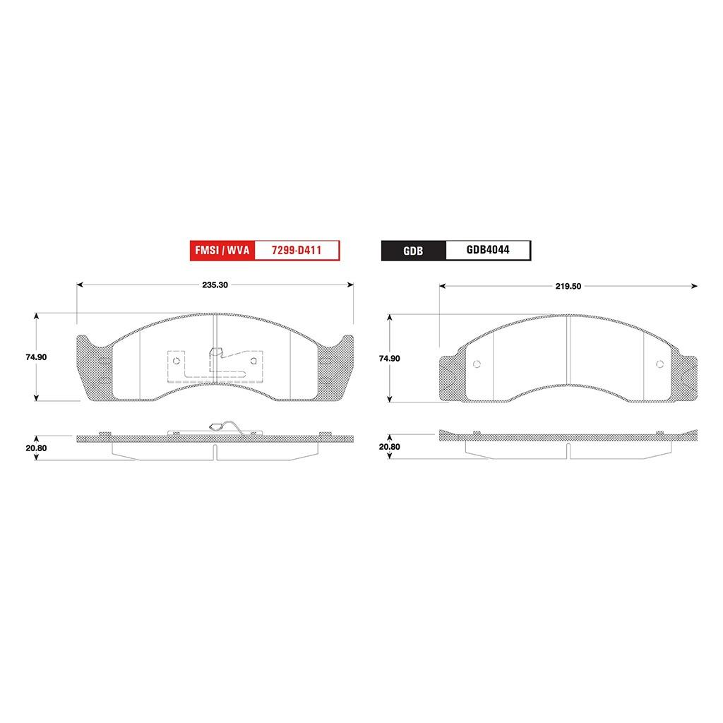 Balatas Delanteras / Traseras Ford F-450 Super Duty 88-98