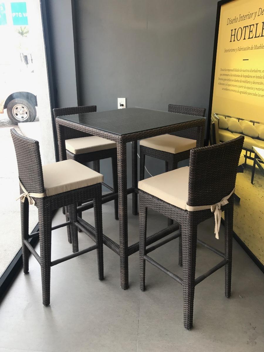 Banco De Rattan Para Mesa Alta Restaurante Exterior Terraza   380000 en Mercado Libre