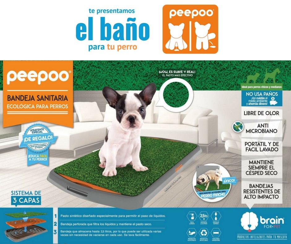 Bandeja Sanitaria Bao Para Perros Peepoo Hembra